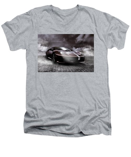 Retro Sports Car - Formule 1 Men's V-Neck T-Shirt