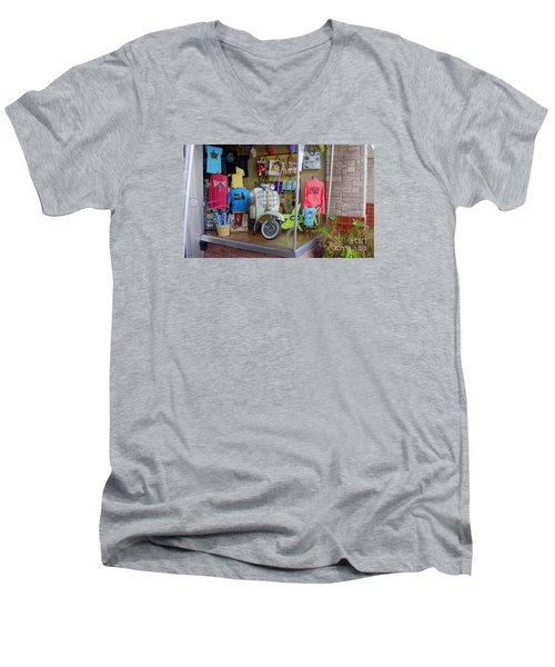 Retro Storefront Men's V-Neck T-Shirt
