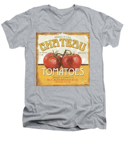 Retro Veggie Labels 4 Men's V-Neck T-Shirt