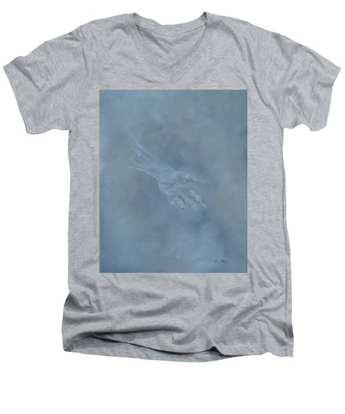 Men's V-Neck T-Shirt featuring the painting Return To Dust by Judith Rhue