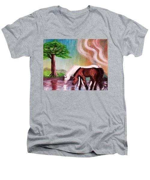 Return To Innocence  Men's V-Neck T-Shirt