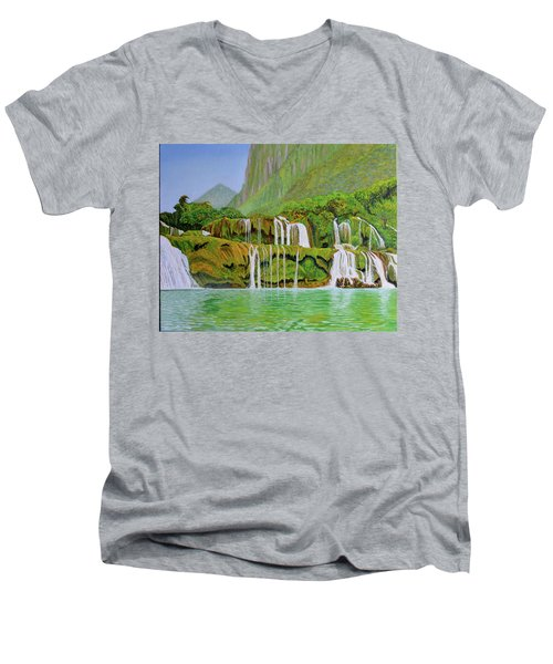 Returned To Paradise Men's V-Neck T-Shirt by Thu Nguyen