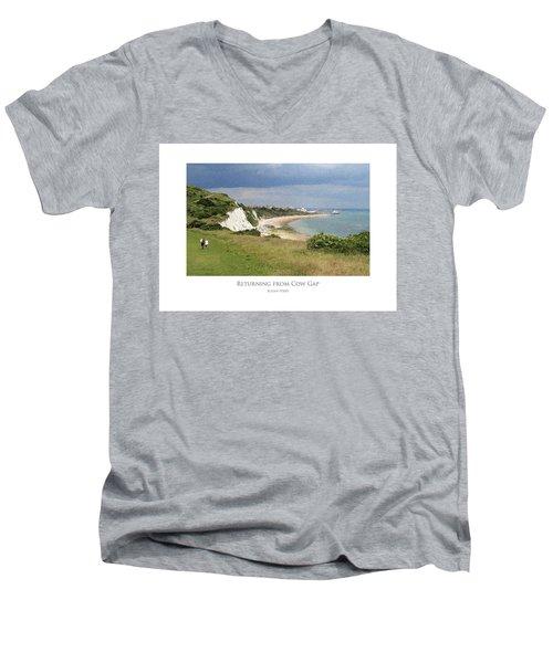 Returning From Cow Gap Men's V-Neck T-Shirt