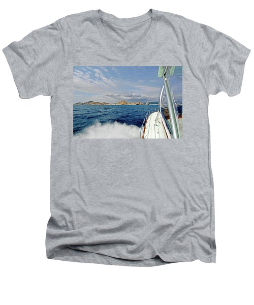Returning To Port Men's V-Neck T-Shirt