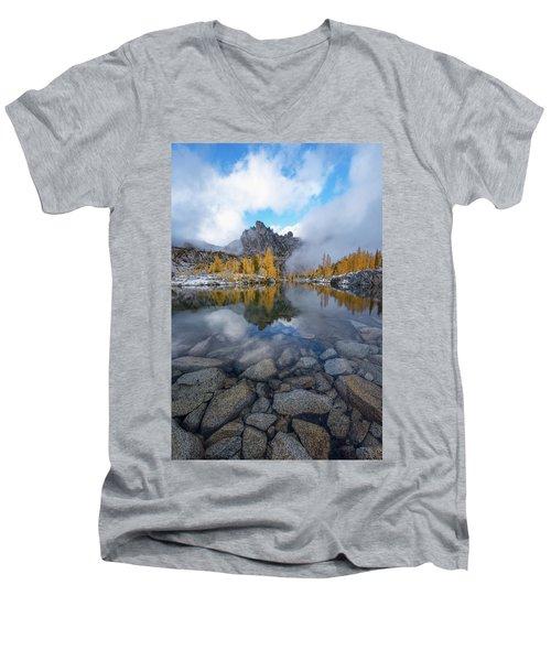 Revelation Men's V-Neck T-Shirt by Dustin LeFevre