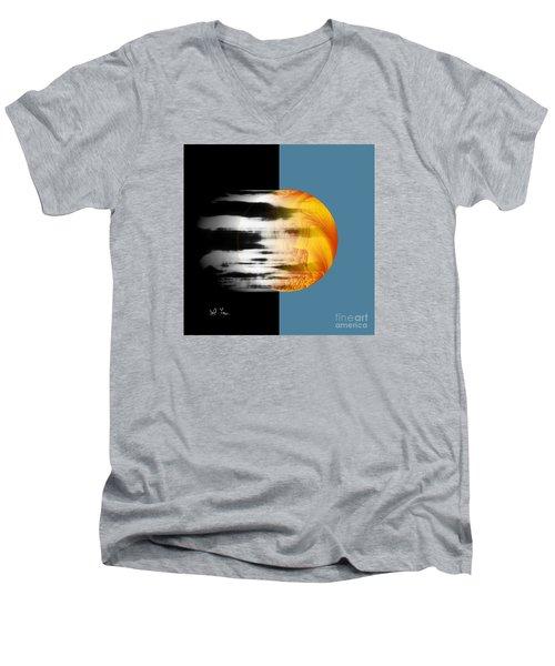 Men's V-Neck T-Shirt featuring the digital art Revelation by Leo Symon