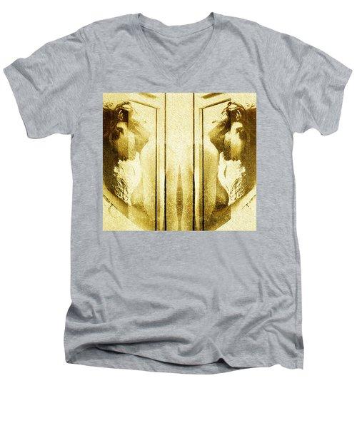 Reversed Mirror Men's V-Neck T-Shirt by Andrea Barbieri