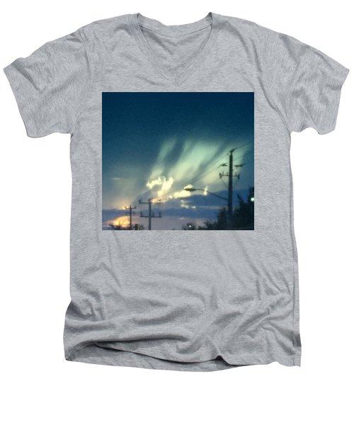 Revival Men's V-Neck T-Shirt by Audrey Robillard