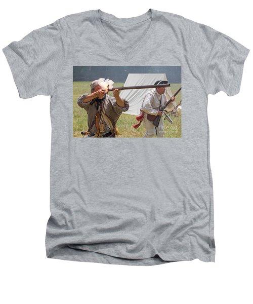 Revolutionary War Reenactment Men's V-Neck T-Shirt