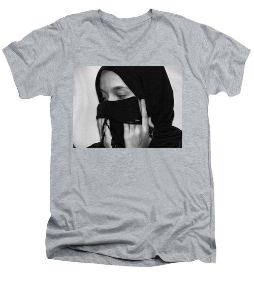 Rezadeira Men's V-Neck T-Shirt by Beto Machado
