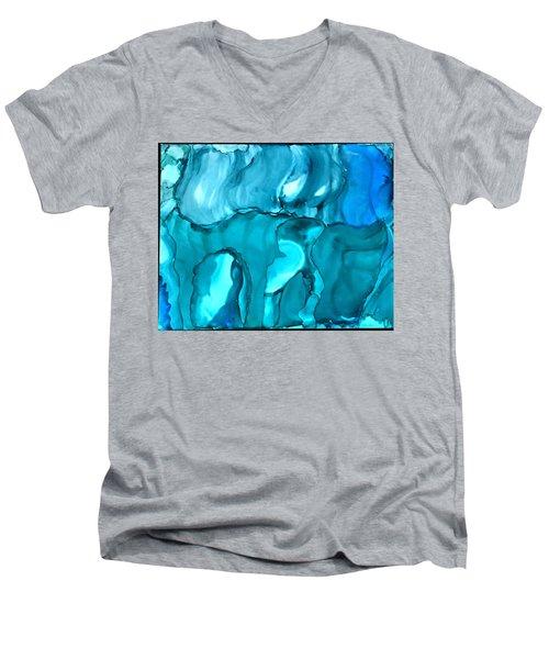 Rhabsody In Blue Men's V-Neck T-Shirt