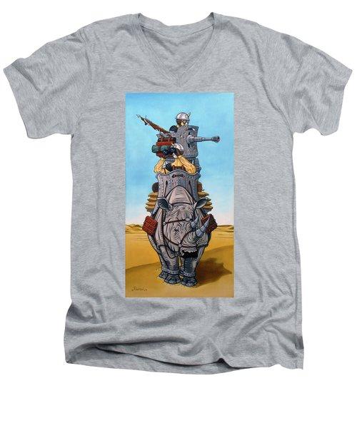 Rhinoceros Riders Men's V-Neck T-Shirt