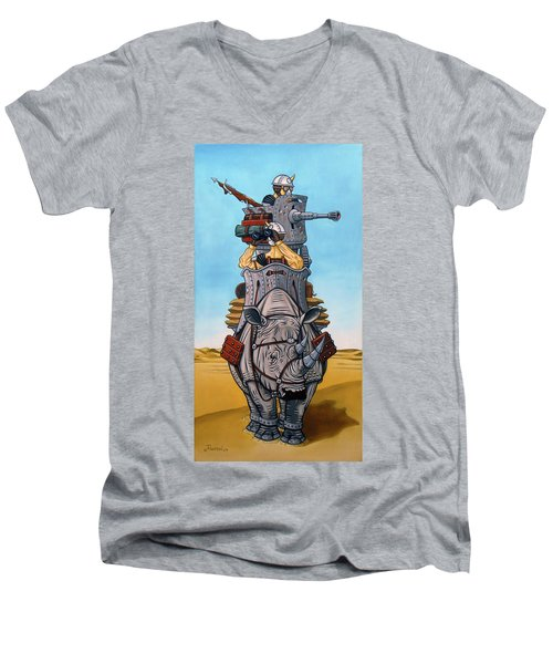 Rhinoceros Riders Men's V-Neck T-Shirt