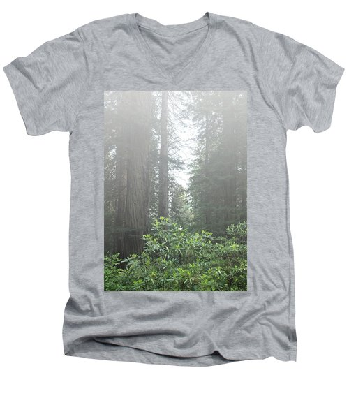 Rhododendrons In The Fog Men's V-Neck T-Shirt