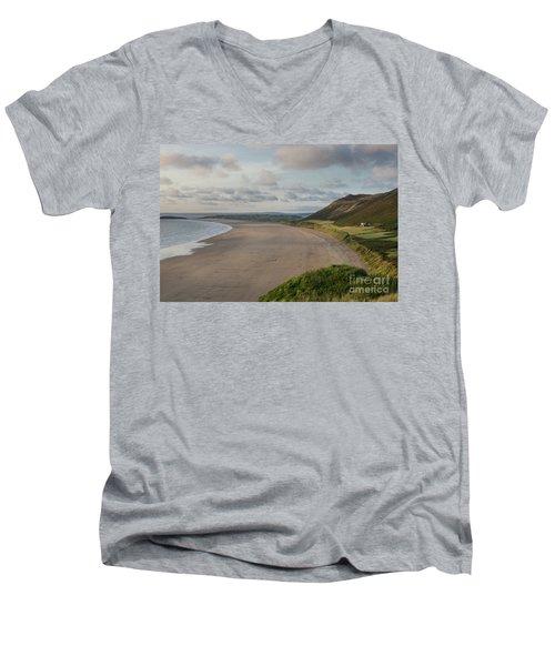 Rhossili Bay, South Wales Men's V-Neck T-Shirt