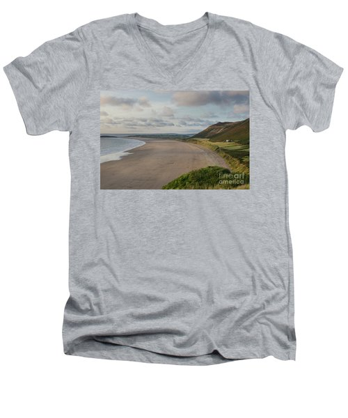 Rhossili Bay, South Wales Men's V-Neck T-Shirt
