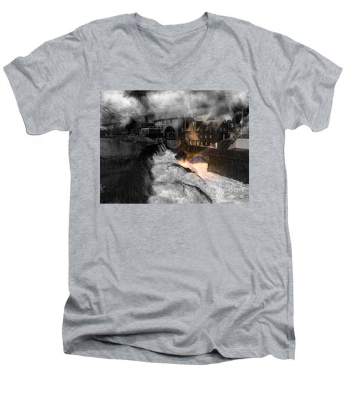 Rainbow In The Mist Men's V-Neck T-Shirt