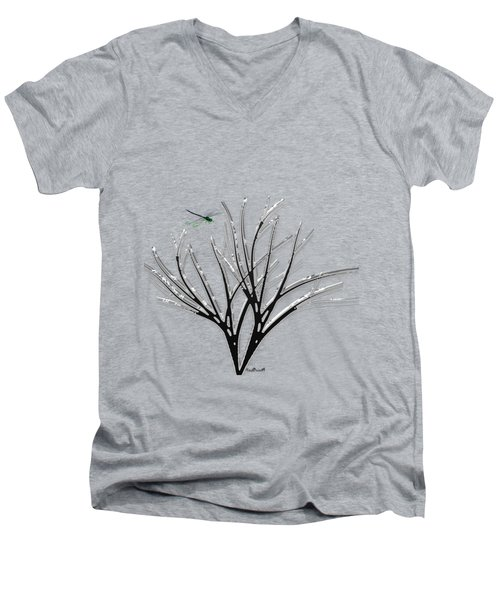 Ribbon Grass Men's V-Neck T-Shirt