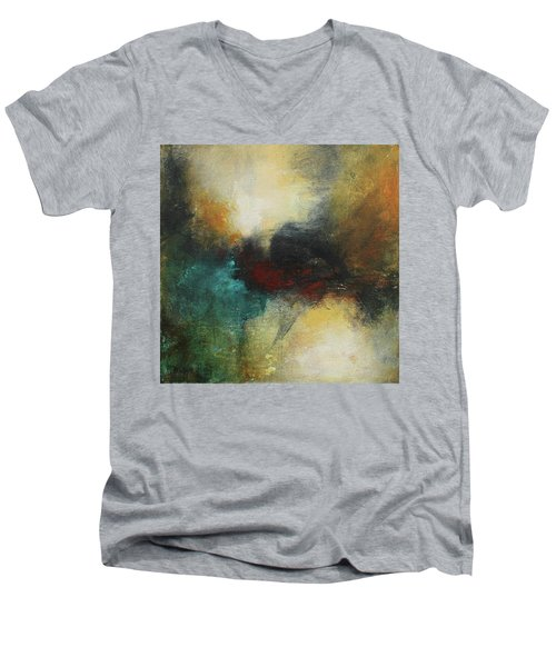 Rich Tones Abstract Painting Men's V-Neck T-Shirt