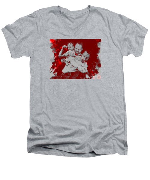 Rick Grimes Men's V-Neck T-Shirt by David Kraig