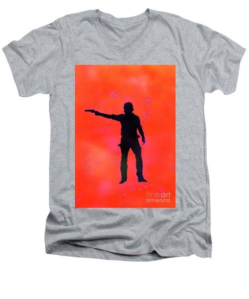 Rick Grimes Men's V-Neck T-Shirt by Justin Moore