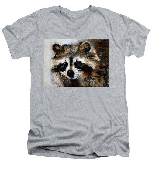 Rickey Raccoon Men's V-Neck T-Shirt
