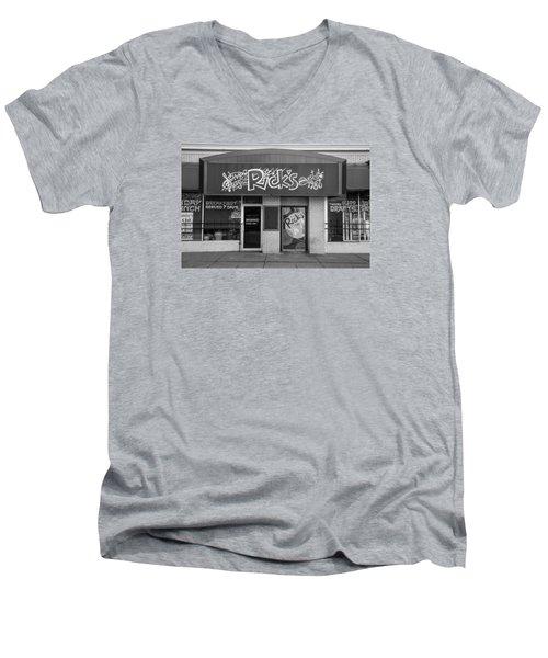 Rick's Cafe East Lansing  Men's V-Neck T-Shirt by John McGraw