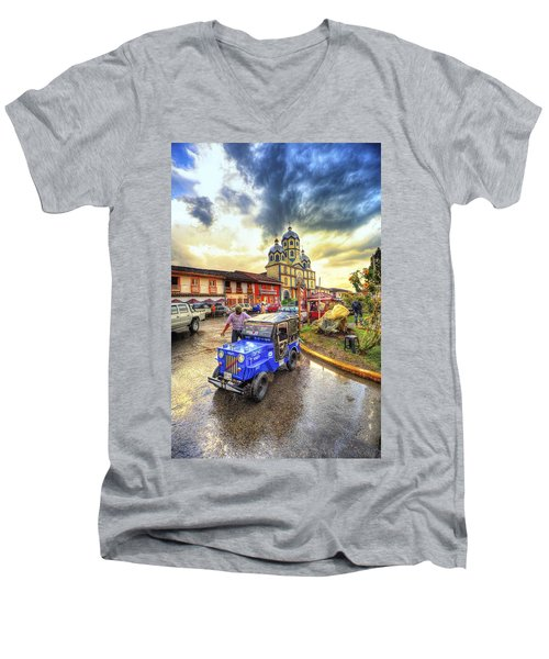 La Plaza Men's V-Neck T-Shirt