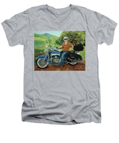 Ride In The Birksire's Men's V-Neck T-Shirt