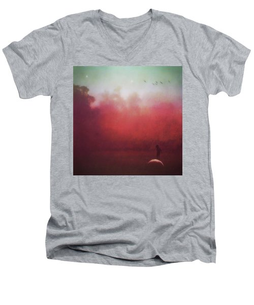 Ride The Moon Men's V-Neck T-Shirt