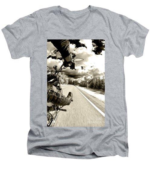 Ride To Live Men's V-Neck T-Shirt