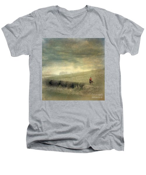Rider In The Storm Men's V-Neck T-Shirt