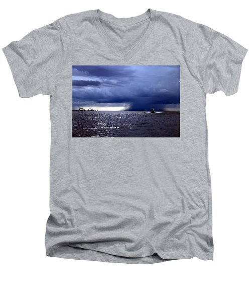 Riders On The Storm Men's V-Neck T-Shirt by Rdr Creative