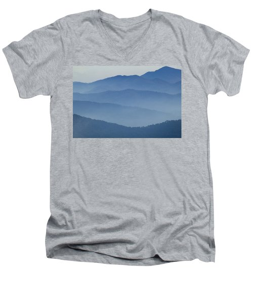 Ridgelines Great Smoky Mountains Men's V-Neck T-Shirt