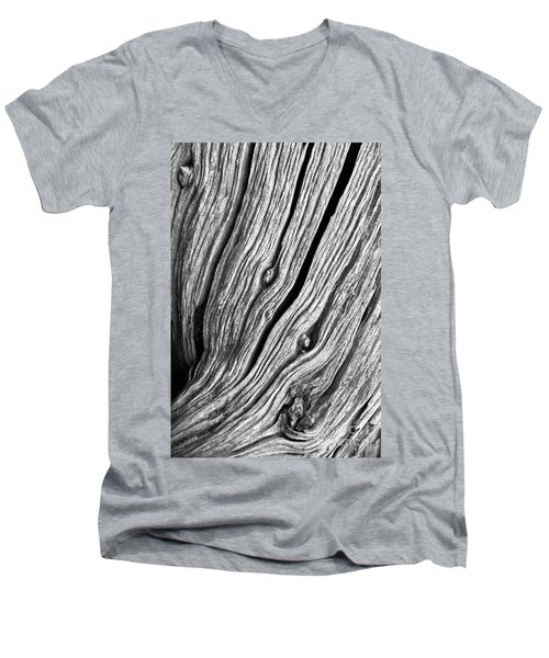 Men's V-Neck T-Shirt featuring the photograph Ridges - Bw by Werner Padarin