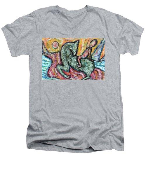 Ridin' Men's V-Neck T-Shirt