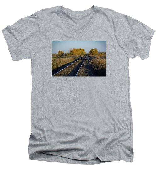 Riding The Rails Men's V-Neck T-Shirt