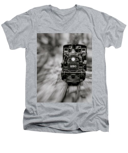 Riding The Railways Men's V-Neck T-Shirt
