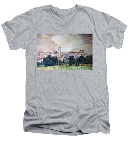 Rieti Panoramic Men's V-Neck T-Shirt