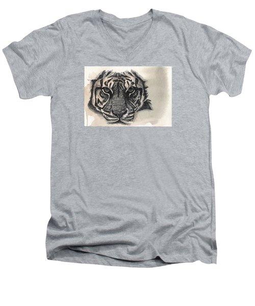 Righteous Hunger Men's V-Neck T-Shirt by Nathan Rhoads