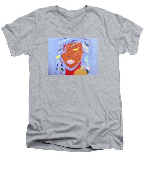 Rihanna Loud Men's V-Neck T-Shirt by Stormm Bradshaw