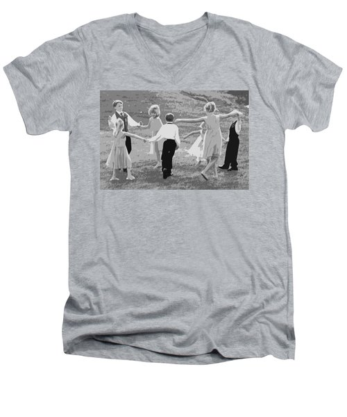 Men's V-Neck T-Shirt featuring the photograph Ring Around The Rosy by Colleen Coccia