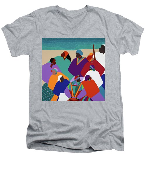 Ring Shout Gullah Islands Men's V-Neck T-Shirt