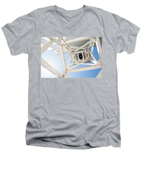 Men's V-Neck T-Shirt featuring the photograph Ringing Of The Chapel Bell by Parker Cunningham