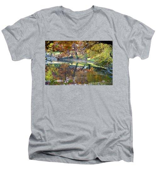Ripples In An Autumn Lake Men's V-Neck T-Shirt