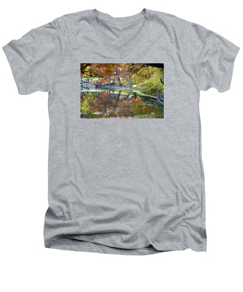 Ripples In An Autumn Lake Men's V-Neck T-Shirt