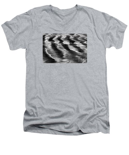 Men's V-Neck T-Shirt featuring the photograph Ripples In The Sand by Gary Bridger
