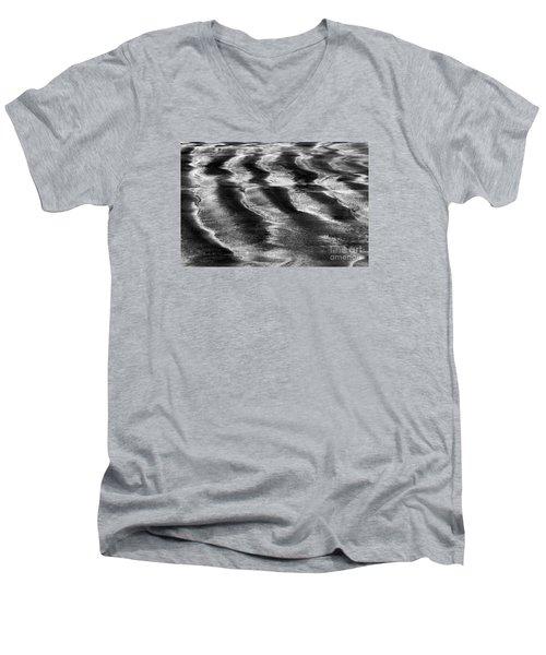 Ripples In The Sand Men's V-Neck T-Shirt by Gary Bridger