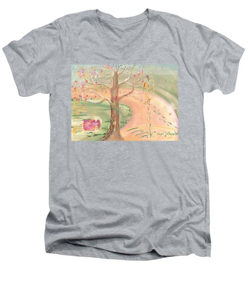 Ripples Of Spring Men's V-Neck T-Shirt