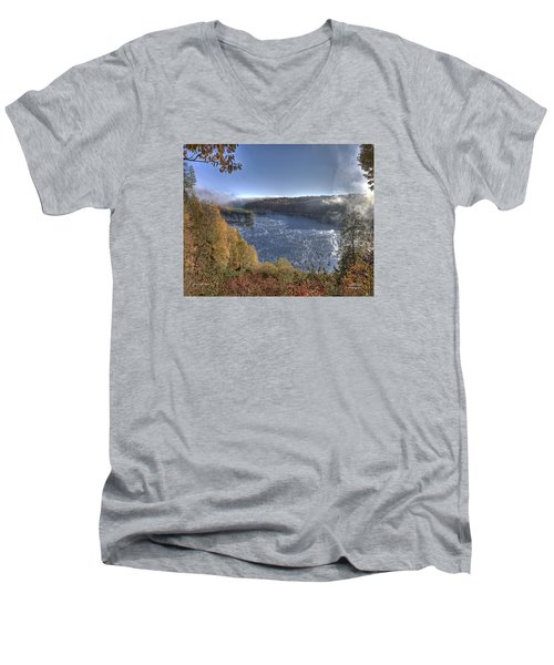 Men's V-Neck T-Shirt featuring the photograph Rise And Shine by Mark Allen
